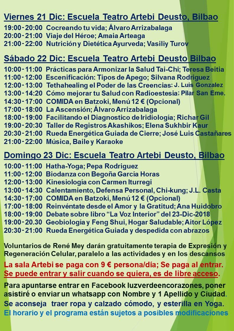 Evento Bilbao Diciembre 2018