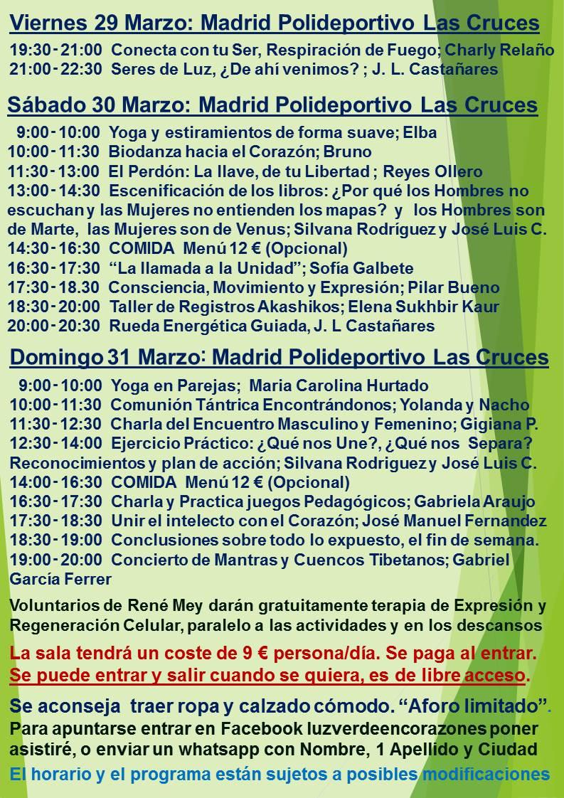 Evento Madrid Marzo 2019