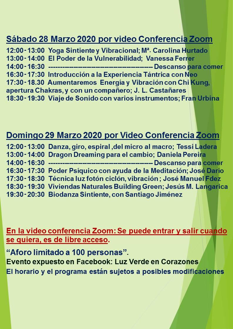 Evento Zoom Marzo 2020