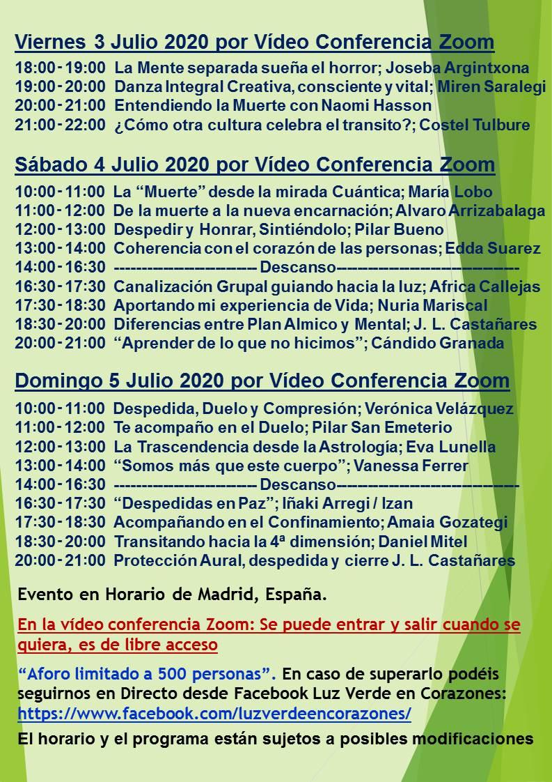 Evento Zoom Julio 2020